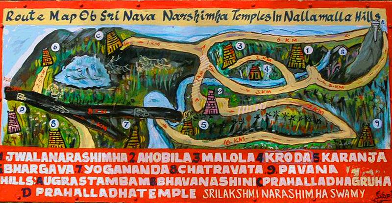 Путеводитель по храмам Нарасимхи в Аховалам